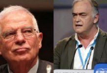 Josep Borrell, ministro de Asuntos Exteriores y González-Pons, portavoz del PP en el Parlamento Europeo