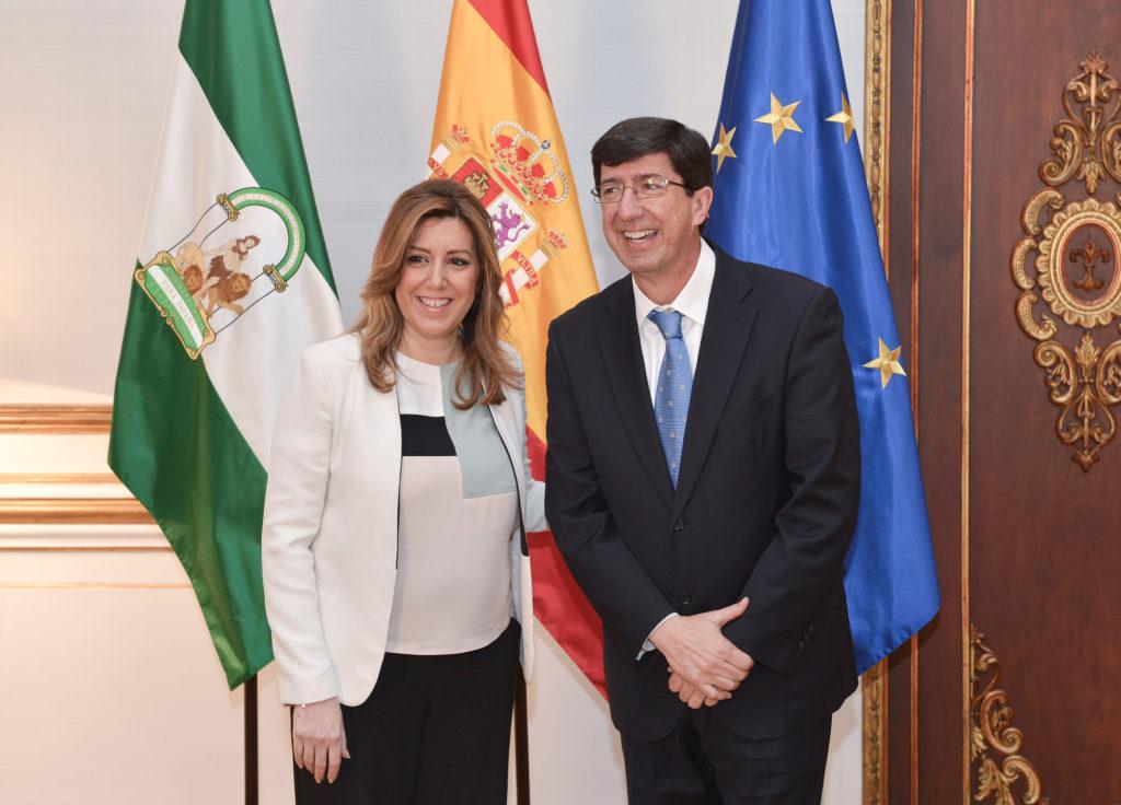 Susana Diaz y Juan Marin