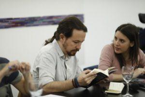 Iglesias y Montero marcha de Maillo