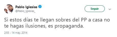 Iglesias twitter