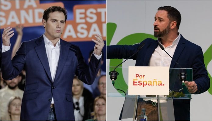 Albert Rivera y Santiago Abascal
