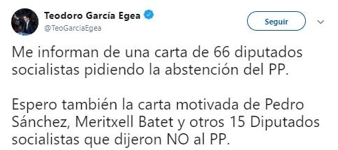 Garcia Egea abstencion psoe
