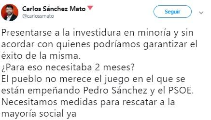 Sanchez Mato investidura