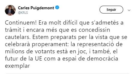 Puigdemont UE