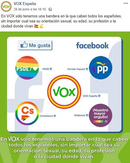 Vox orgullo facebook