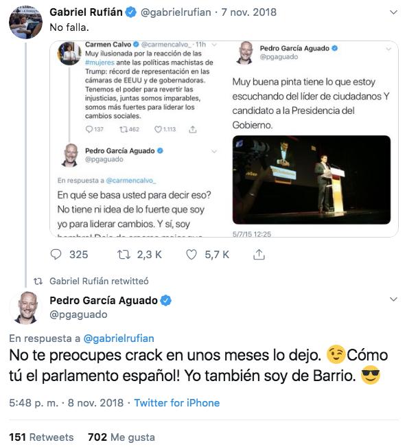 García Aguado, el 'Hermano Mayor', trata de educar a Rufián