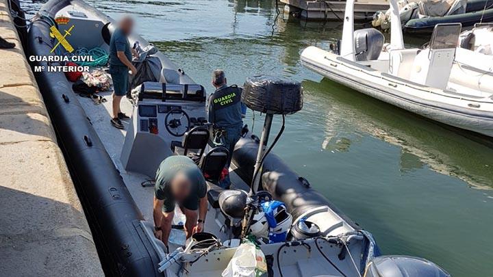 La Guardia Civil detiene a un total de 14 personas en los últimos cinco días por temas de narcotráfico