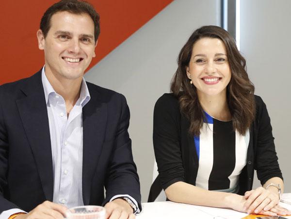 Arrimadas y Rivera, políticos españoles