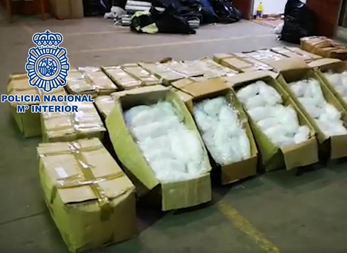 La Policía Nacional interviene 631 kilos de metanfetamina en Badalona