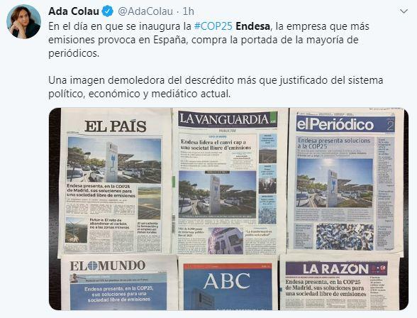 Resultado de imagen de Iberdrola y su presencia mediática en la inauguración de la cop 25