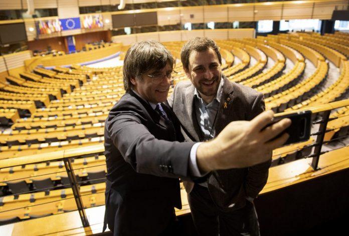 Vox - Puigdemont Comin eurodiputados