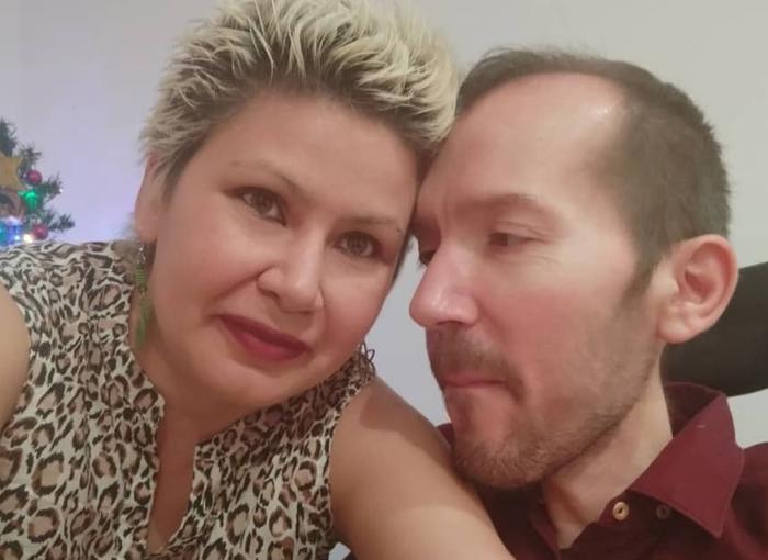Pablo Echenique y su esposa María Alejandra Nelo