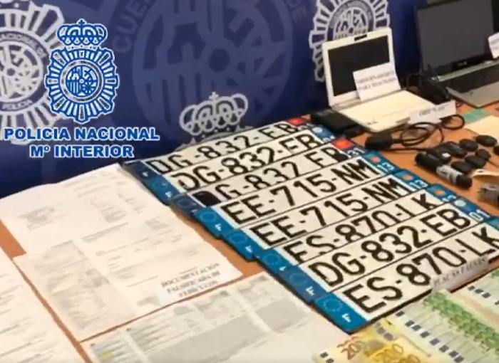 Desarticulada en Alicante una red criminal dedicada al robo de vehículos