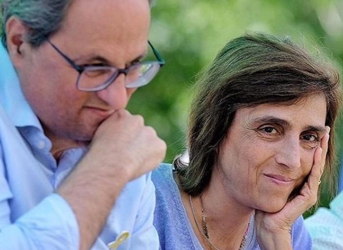 Carola Miró es la mujer de Quim Torra
