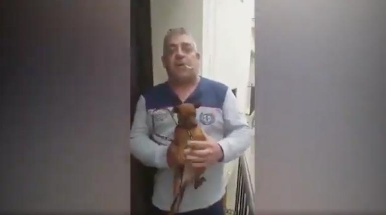 """Indignación en las redes por el """"iluminado"""" que descolgó a su perro desde el balcón"""