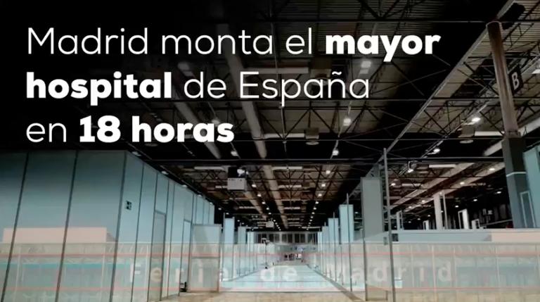 Madrid pulveriza a Wuhan: un hospital de 5.500 camas en cinco días