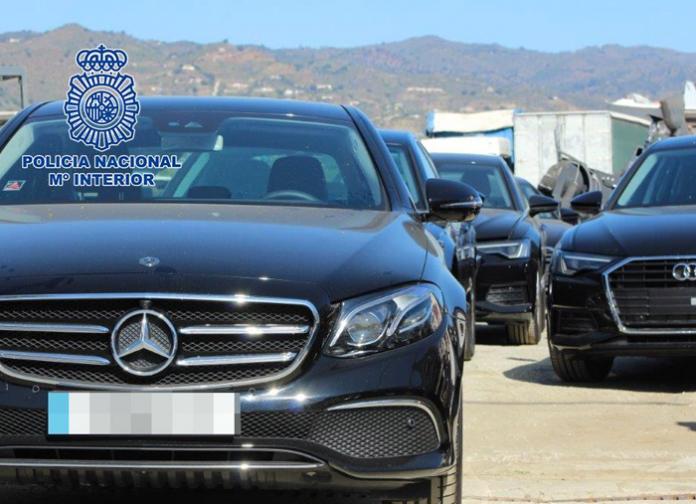 La Policía Nacional desarticula un grupo criminal especializado en blanquear vehículos de lujo