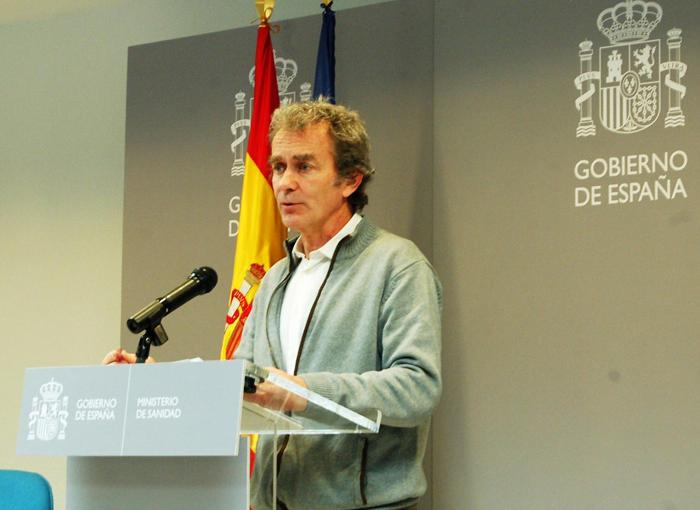 Fernando Simón habla a diario de los avances del coronavirus en España