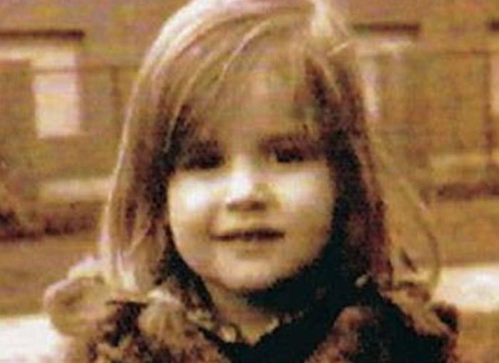 La reina Letizia de pequeña.