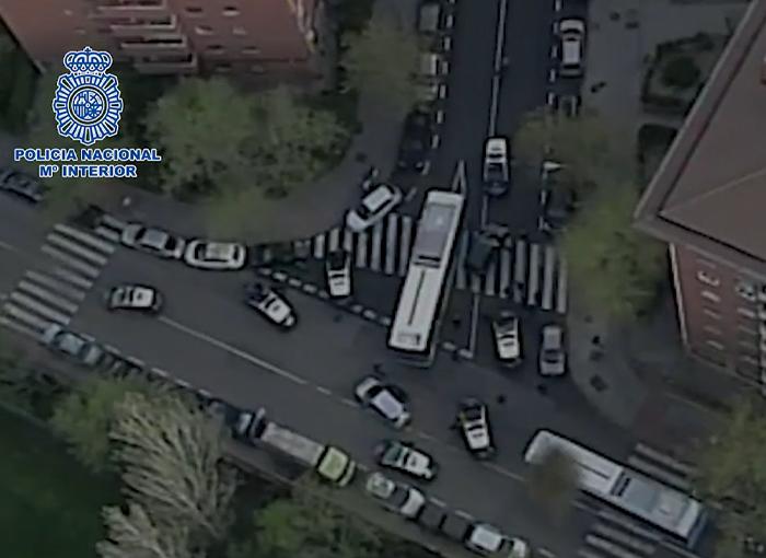Detenido tras una larga persecución en un coche robado por Madrid