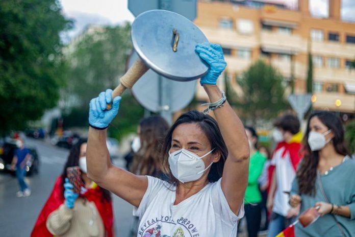 protestas madrid Coronavirus