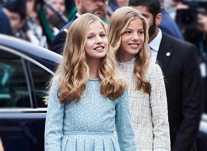 Las hijas de los Reyes de España.