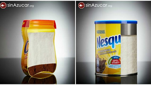 azucar Nesquik y Cola Cao