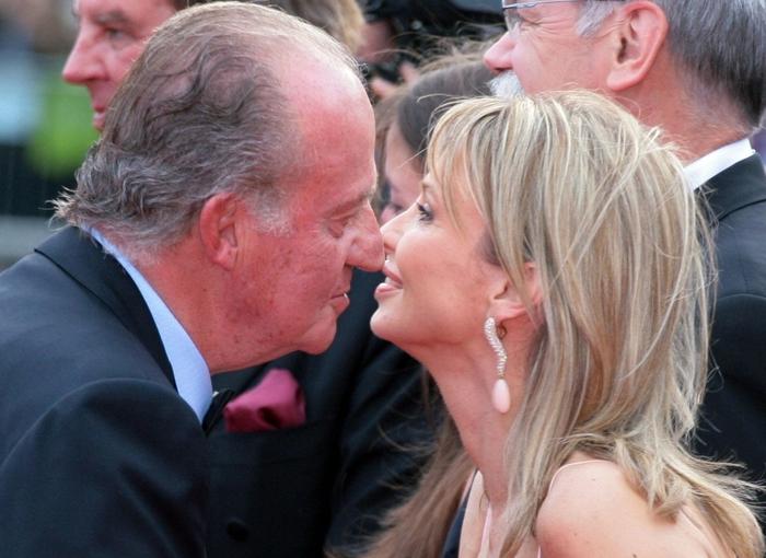 El encuentro entre Corinna y Juan Carlos en 2019.