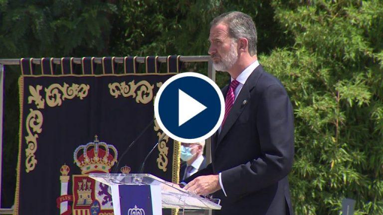 Homenaje del Rey a los Policías caídos durante la pandemia