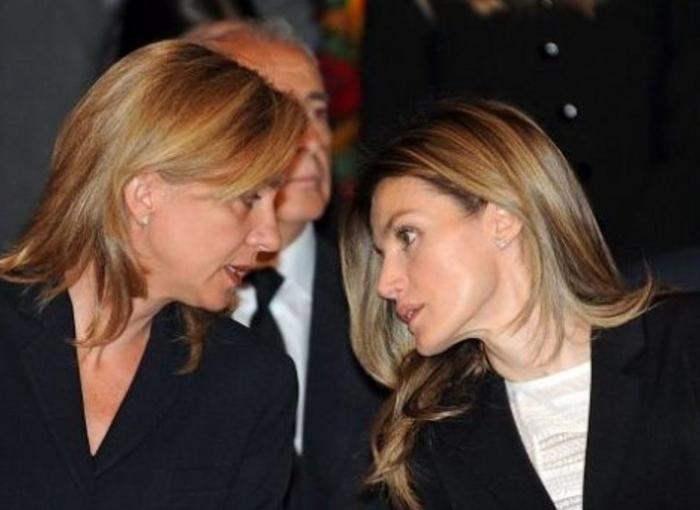La cercanía de la infanta Cristina y Letizia al principio.