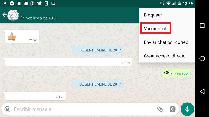 Monitorización del almacenamiento de WhatsApp
