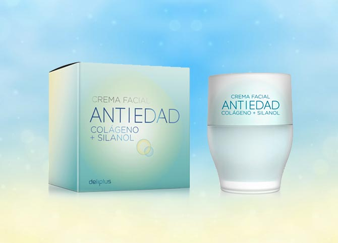 Crema facial antiedad con colágeno Deliplus Mercadona
