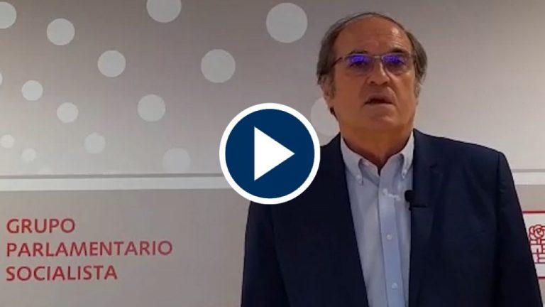 """Gabilondo tacha de """"carente"""" el Gobierno regional de Ayuso y Aguado"""