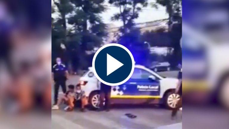 Menas a puñetazos con la policia local de Tarragona