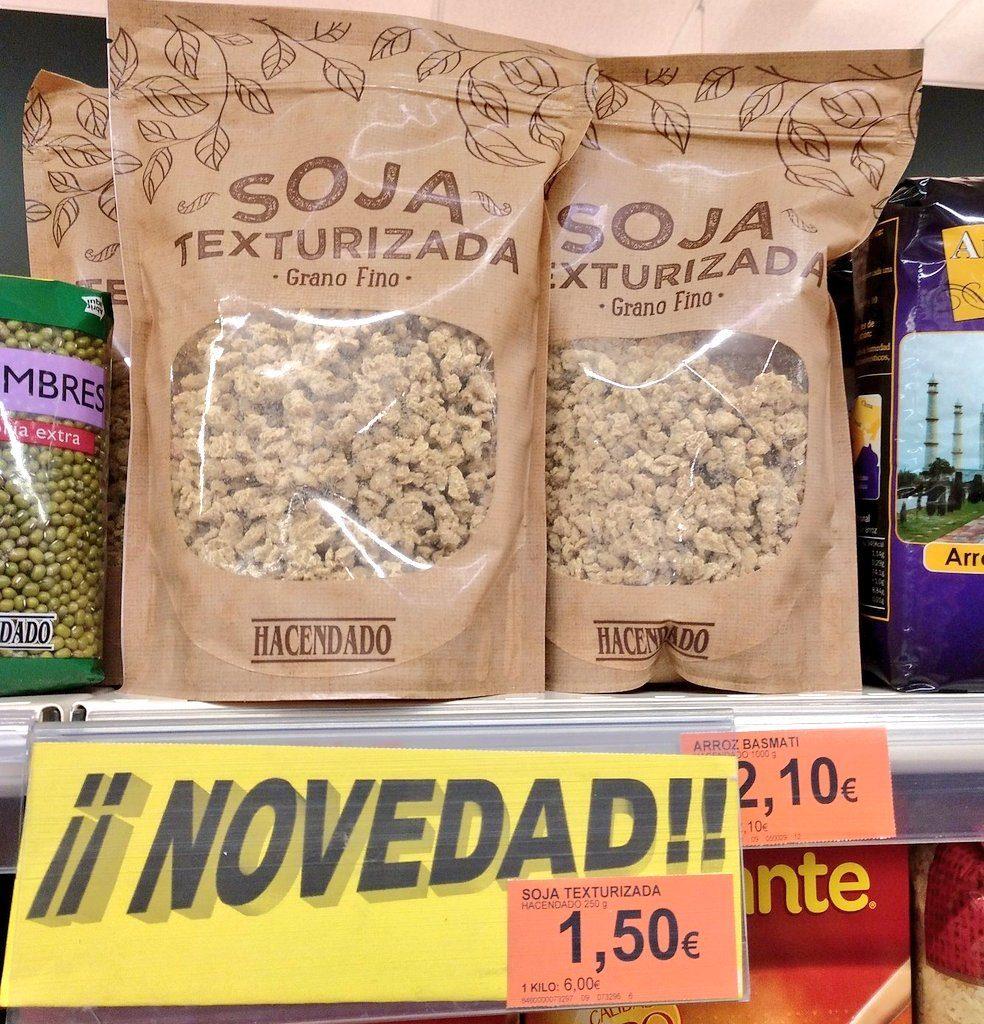 Soja texturizada causa furor en Mercadona Carrefour y Lidl