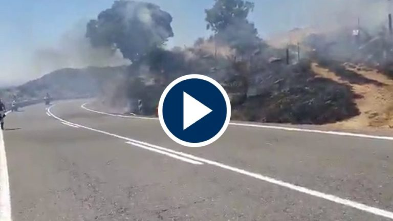 Un accidente de moto el detonante del incendio en Robledo de Chavela