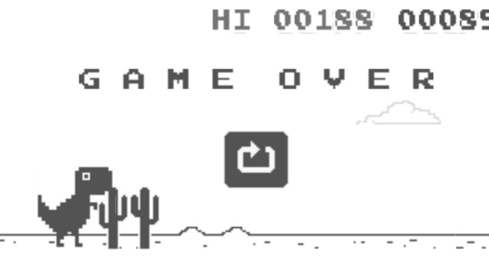 El juego del dinosaurio de Google