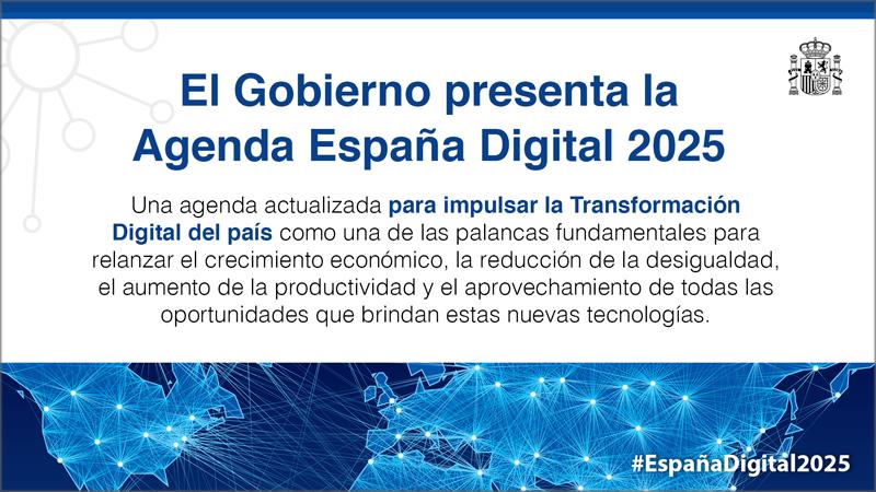 Qué es España Digital 2025, programa del Gobierno