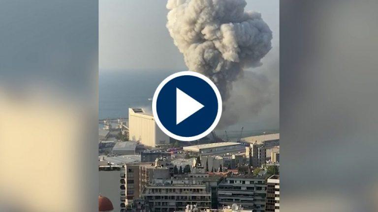 El insólito momento del estallido en Beirut que arroja más de 100 muertos