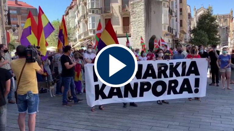 Primeras manifestaciones por la huida de Juan Carlos I