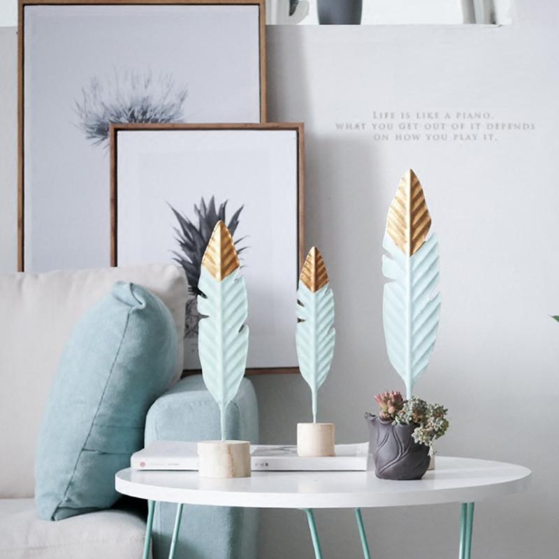 decoración con plumas
