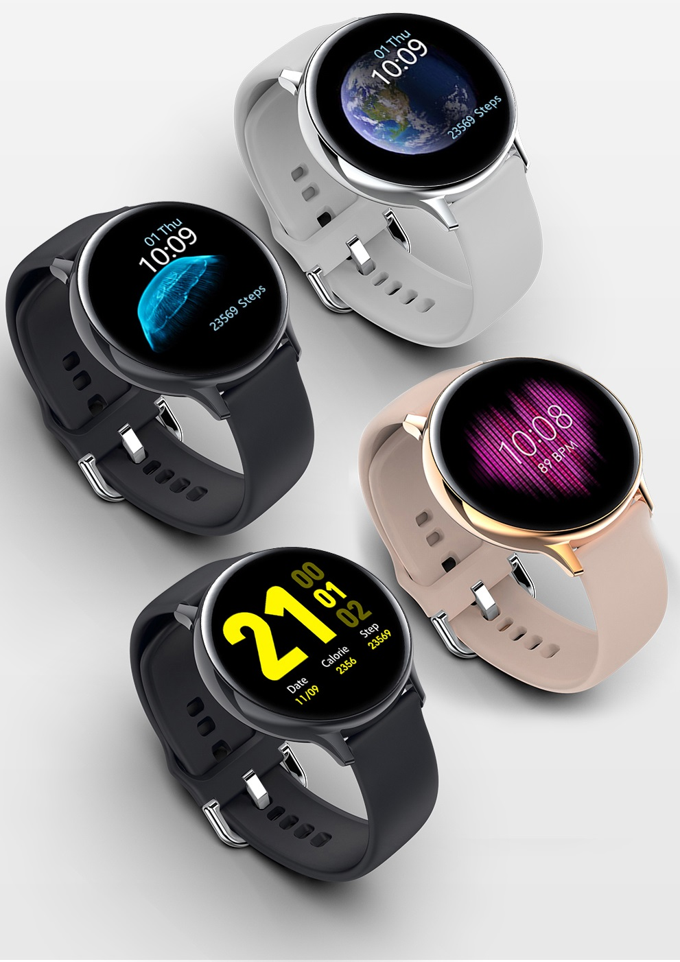 reloj con correa de silicona