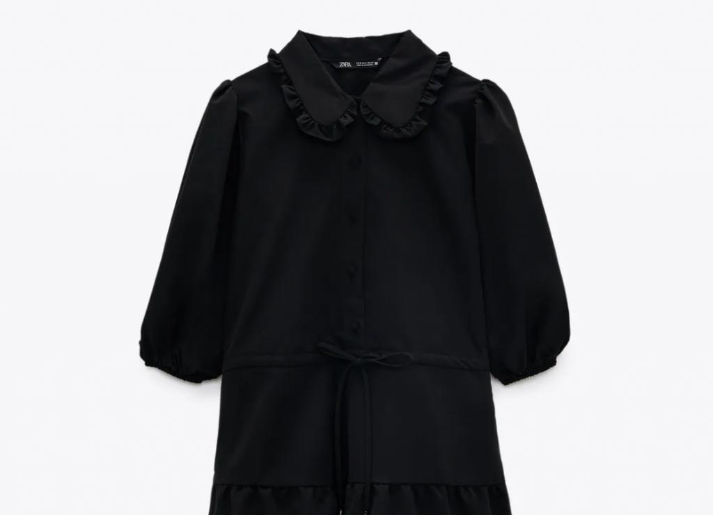 vestido mini popelin zara