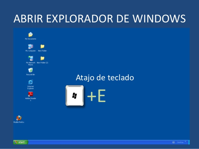 Atajos en el explorador de Windows