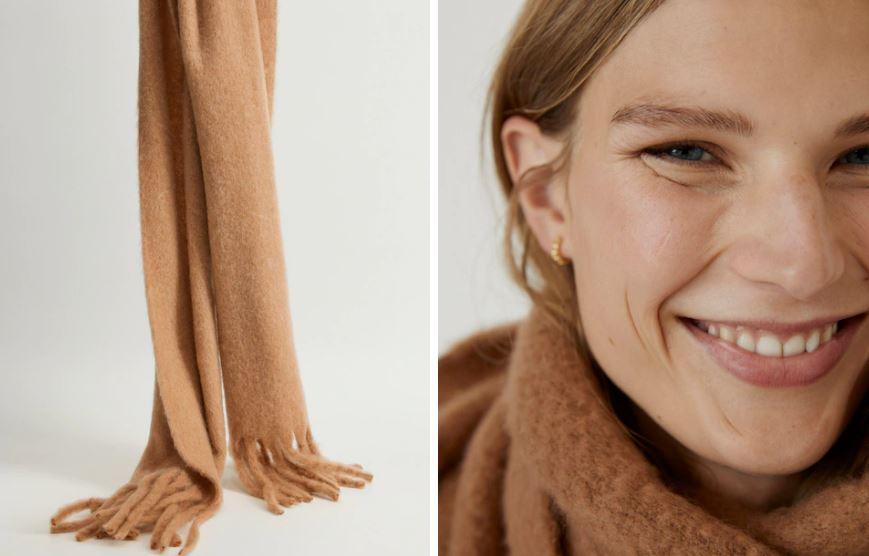 Bufanda lana flecos