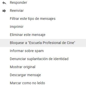 Spam: Es mejor bloquea al usuario