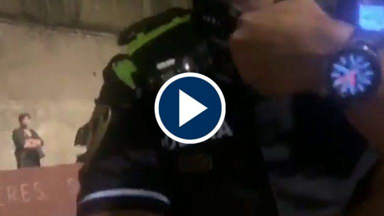 Cristina Seguí se enzarza y da un repaso a un policía municipal de Barcelona