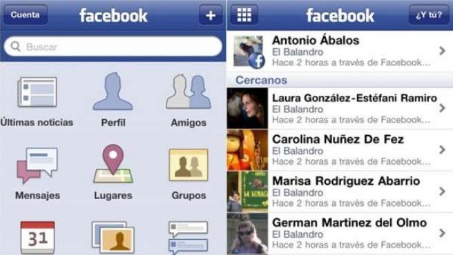 Para visitar sitios o conocer opiniones en Facebook