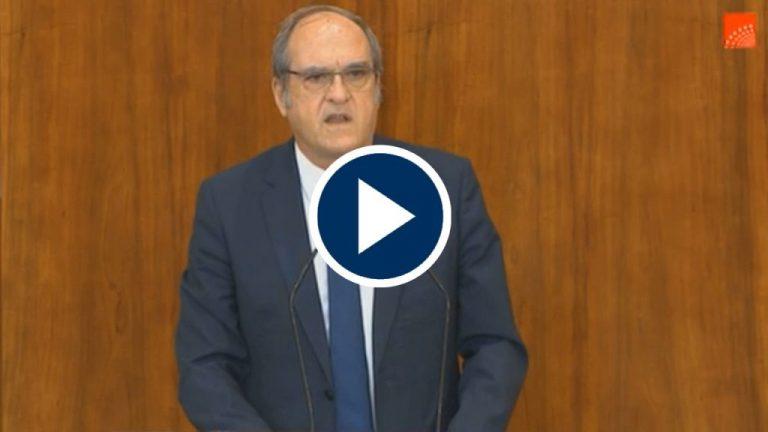 Gabilondo a favor de la moción de censura contra el Gobierno de Ayuso
