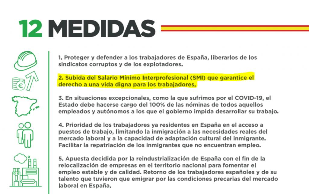 Solidaridad - medidas sindicato obrero vox